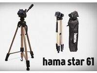 Tripod , HAMA STAR 61 TRIPOD , AS NEW , Only used once ,