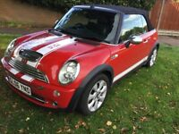 Mini Cooper 1.6 convertible 2006 facelift model cooper s look a like 12 months mot history
