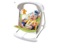 Fisher Price Woodland Friends Take Along Baby Swing & Seat