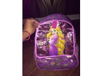 Rapunzel school bag and matching lunch bag