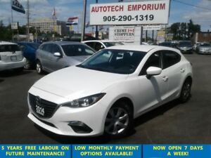 2014 Mazda MAZDA3 SPORT GX-SKY Prl White Hatchback Btooth/All Po
