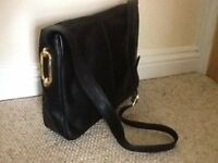 Lovely Jane Shilton large black leather handbag, real leather, as new, never used
