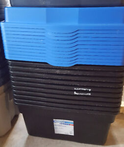 Black Totes with Lids (132L)