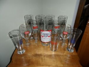 12 BEER GLASSES