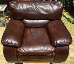 High Shine Brown Faux Leather Lounge Chair with Delivery o.b.o.