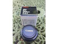 """Canon 50mm lens F1.8 mark II """"nifty fifty"""""""