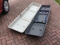 Thule car roof box for luggage, camping equipment and skis