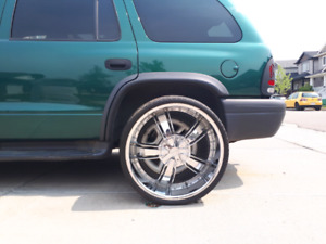 24in rims and tires 1400