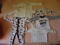 Big bag of baby boy clothing 3-6 months