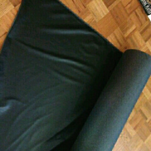 Pleather fabric (black fabric and white fabric)