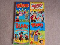 Vintage 1990's copies of The Beano Annual - some minor damage to one spine but otherwise VGC