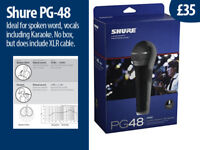 Shure Microphone, with XLR lead: £35