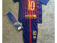 2017 Barcelona football kit Messi 10 kids 10-11 years