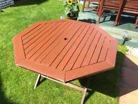 Hardwood garden table