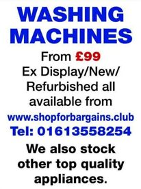Brand New, Graded, & Refurbished appliances for sale from £99