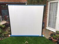 Vintage Projector Screen and Stand