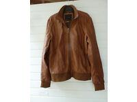 Leather jacket, Brown - Zara Man, Medium