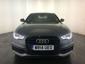 2014 AUDI A6 S LINE BLACK EDITION TDI DIESEL 1 OWNER SERVICE HISTORY FINANCE PX