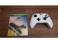 Brand new unused original xbox one white controller and forza horizon3 game download
