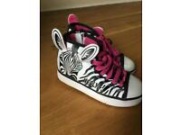 Zebra Heelys Size 13