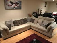 Amazing Harveys L Shaped Leather Sofa!