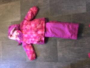 Girls 2 piece snow suit