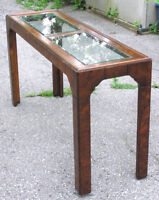Burl Wood Console / Sofa Table with Beveled Glass top Oshawa / Durham Region Toronto (GTA) Preview