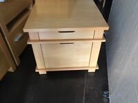 Beech coffee or side table with drawers