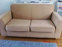Beautiful Metal Action Sofa Bed - Excellent Condition - Biscuit Colour