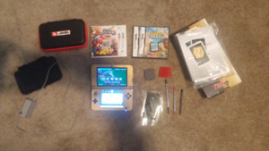 Gold 3DS XL with Super Smash Bros