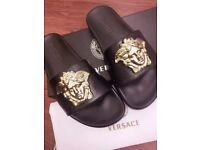 Luxury Versace medusa mens slippers size 8 (42)