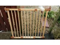 Ikea wooden stair gate