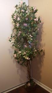 Indoor Decorative Silk Pink Rose Tree