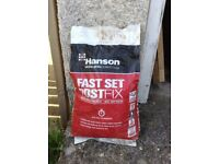 Hanson fast set concrete post mix - 4 x 20kg bags