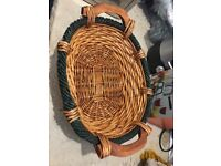 Oval & Circular Natural Bamboo Wicker Bread Basket Storage