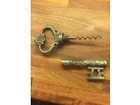 Novelty key themed bottle opener corkscrew