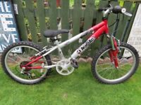 "BOYS BIKE 20"" WHEEL. AMMACO MUDSLIDE. FULLY WORKING AND READY TO RIDE."