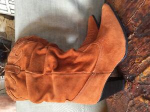 Sz10 Genuine suede cowboy boot
