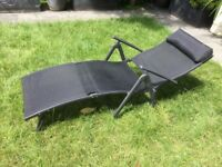 Outdoor black reclining chair/ lounger