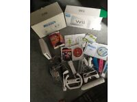 Wii Console& games inc Zumba & Just Dance