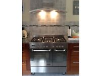 New World Stainless Steel Range Cooker & NEFF Extractor Hood