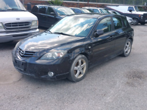 2005 mazda 3 hatchback black for parts or can sell complete