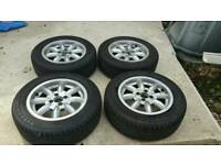 "Triumph TR7/8 set of 4 x 14"" Minilite wheels"