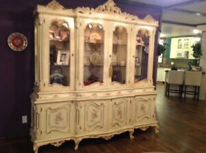ABSOLUTELY STUNNING ONE OF A KIND BUFFET AND HUTCH