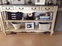 Shabby chic console table/shelves