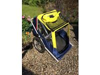 BIKE TRAILER FOR 2 SMALL CHILDREN ONLY £65 CAN DELIVER