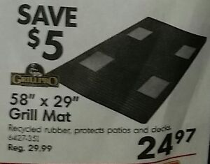 BBQ Grill Mat. New. Never Used.
