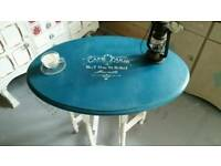 Vintage Shabby Chic Oak Gateleg Dropleaf French Bistro Kitchen Dining Table