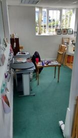 artist's studio space - available now.