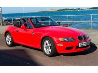 BMW Z3 Red Convertible - head turning. 1895cc. Year 2000